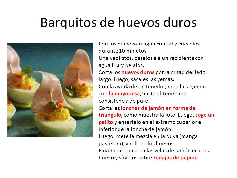 Barquitos de huevos duros