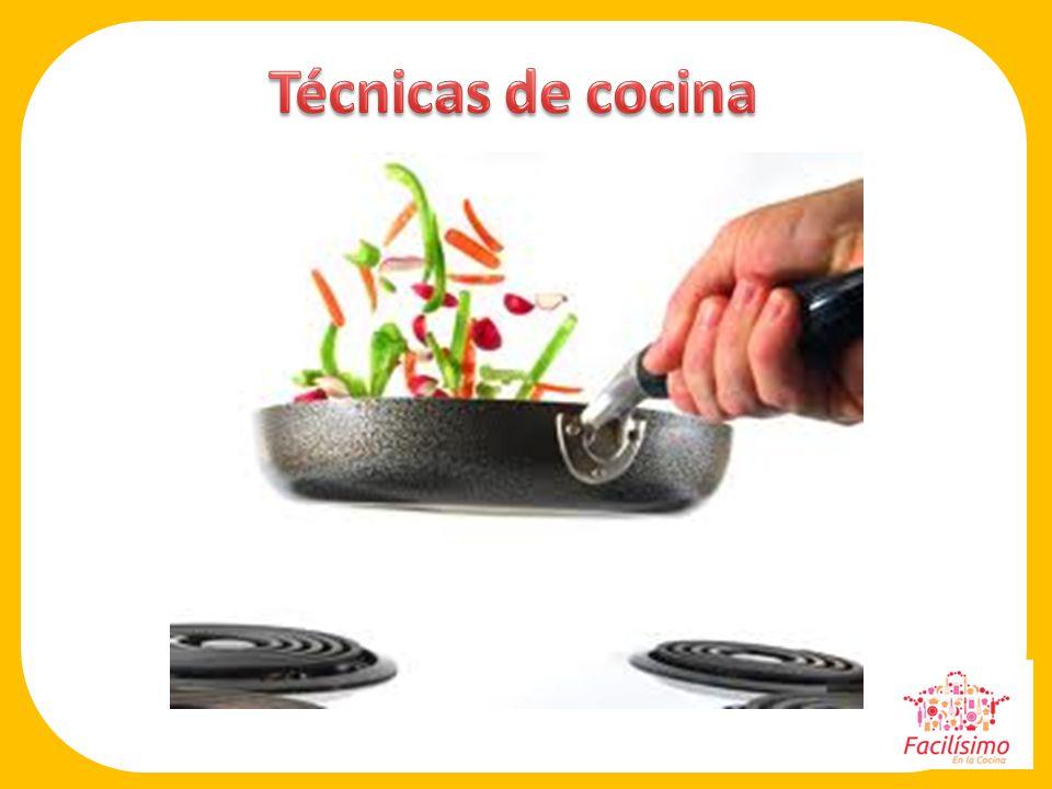 Técnicas de cocina Presentar la sección.