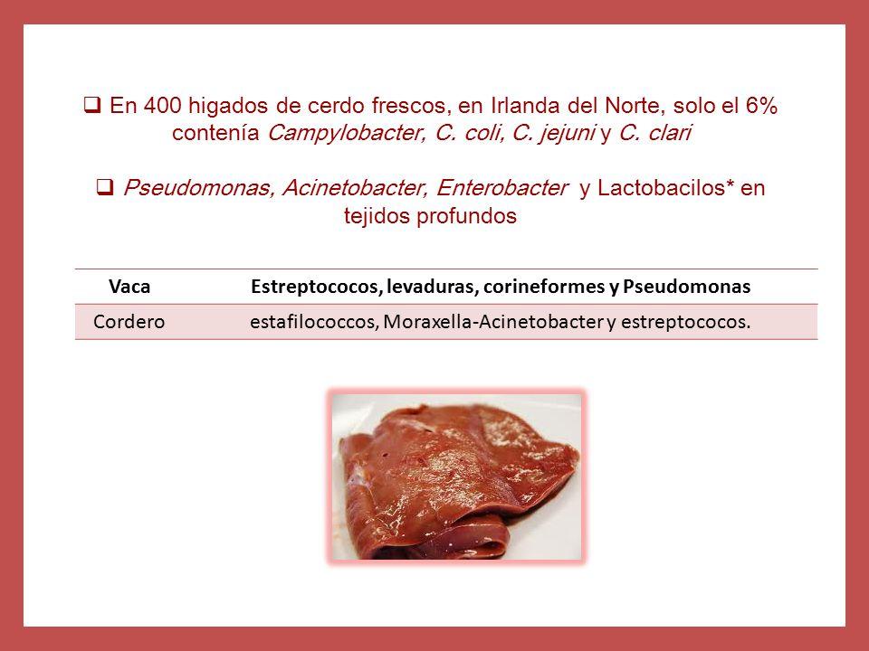 Estreptococos, levaduras, corineformes y Pseudomonas