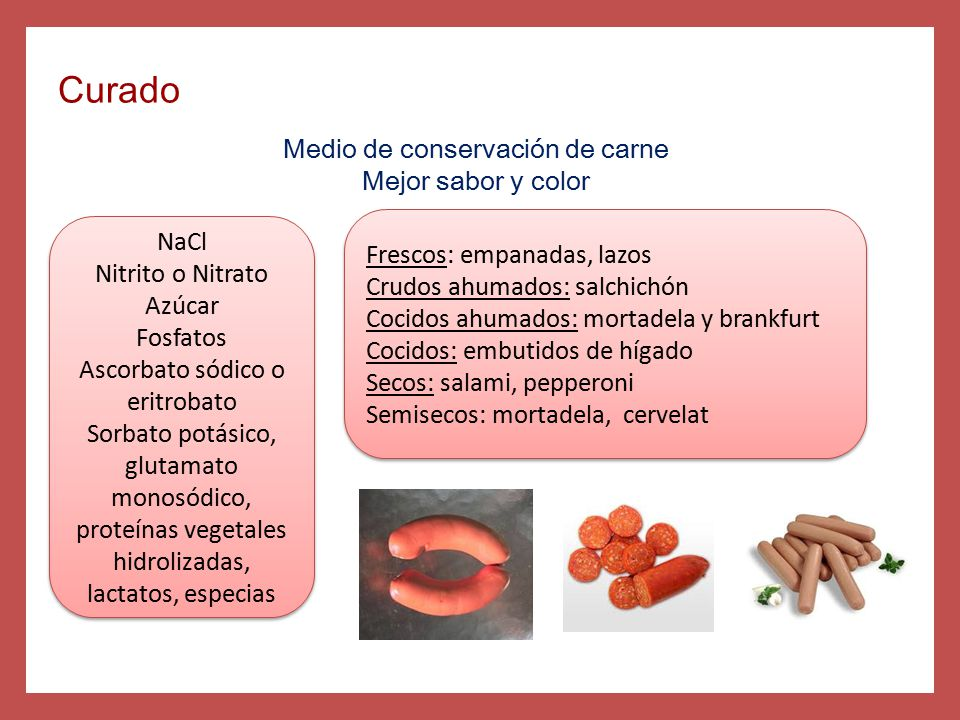 Curado Medio de conservación de carne Mejor sabor y color NaCl