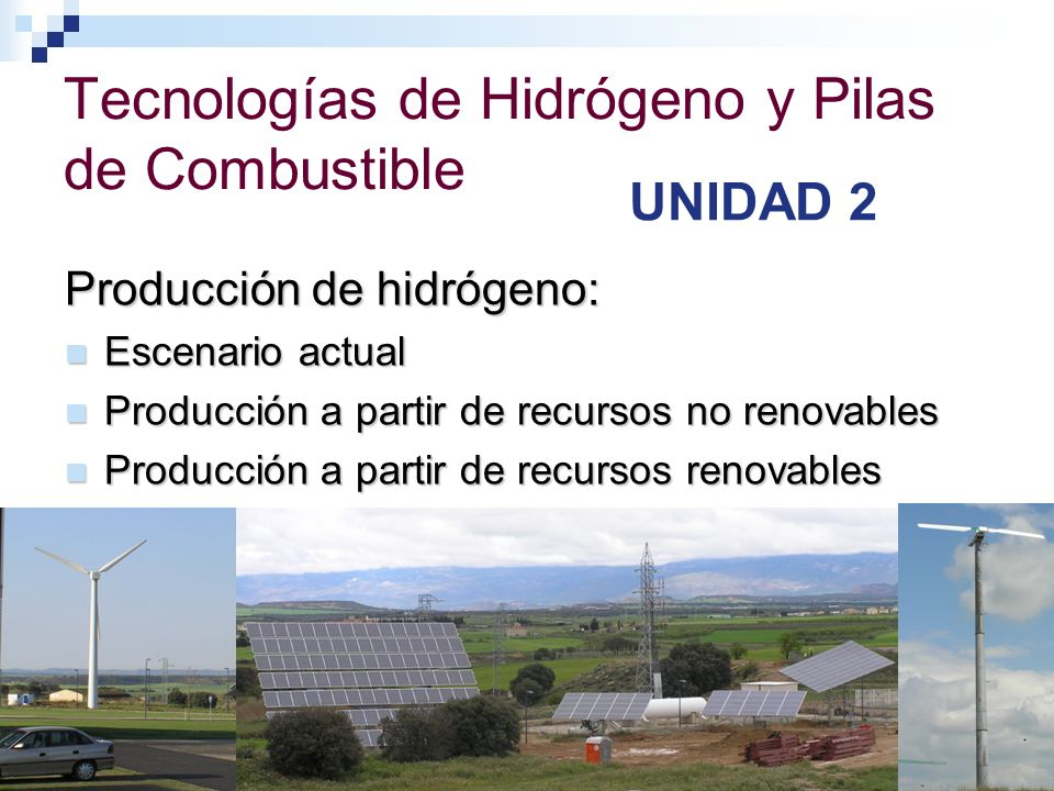 Tecnologías de Hidrógeno y Pilas de Combustible