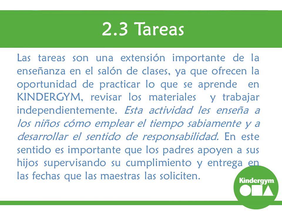 2.3 Tareas