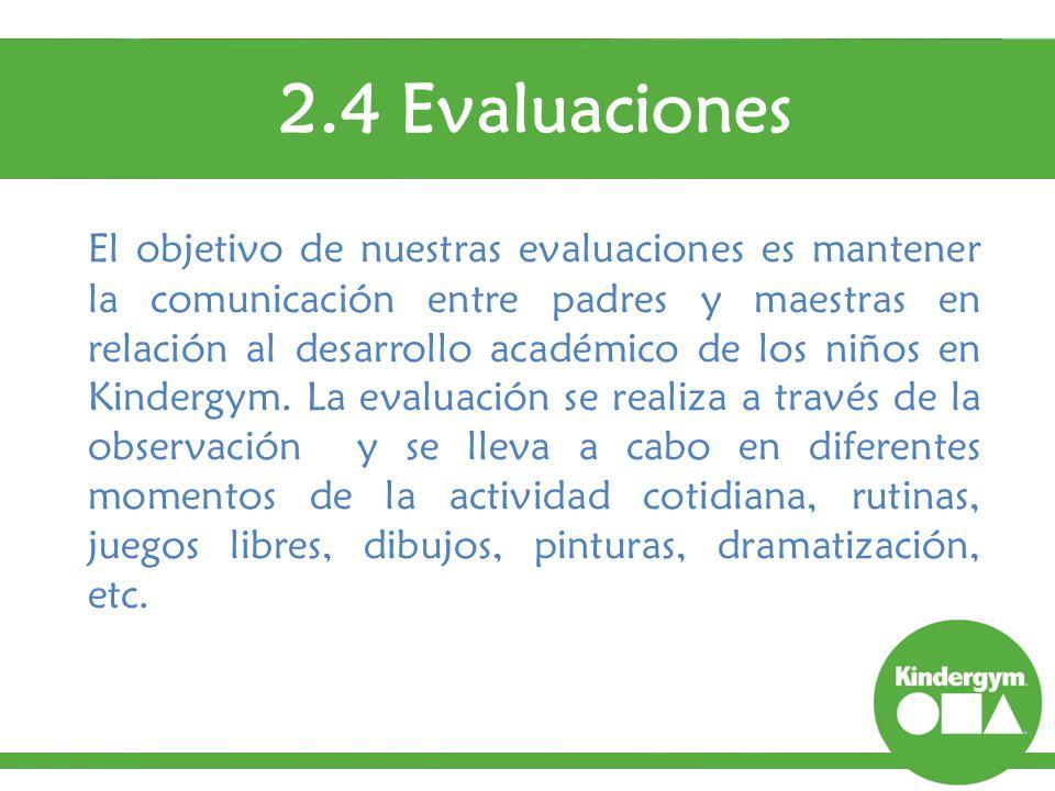 2.4 Evaluaciones