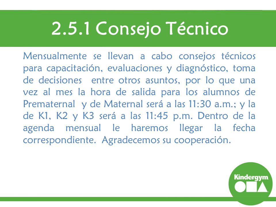 2.5.1 Consejo Técnico