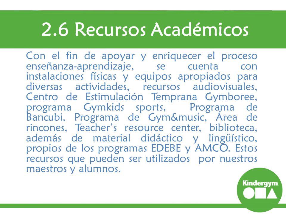 2.6 Recursos Académicos