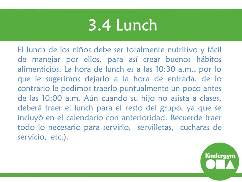 3.4 Lunch