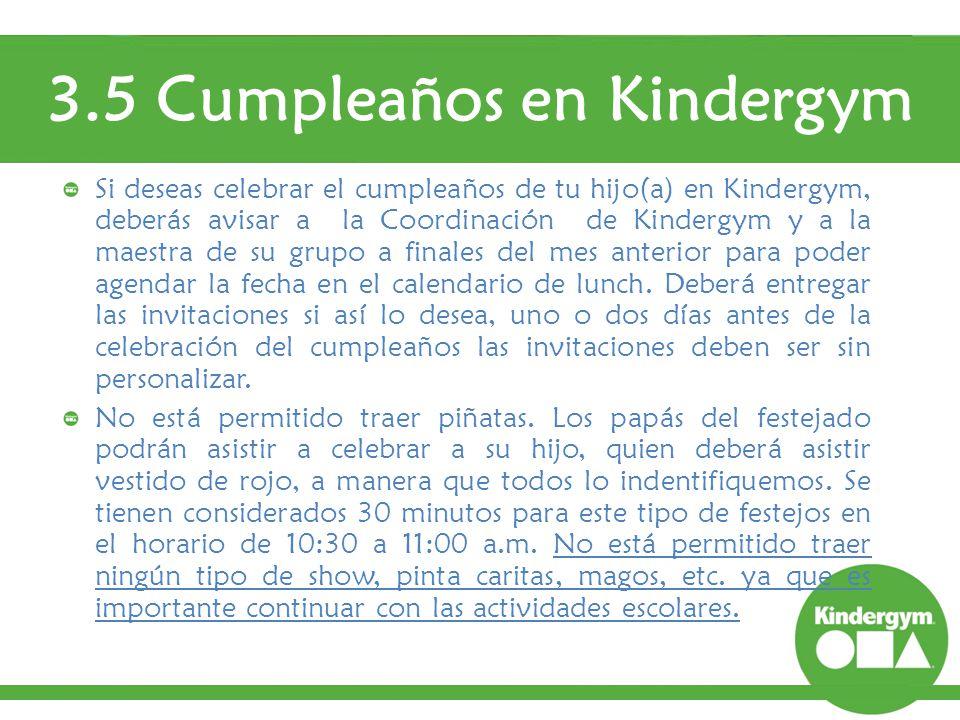 3.5 Cumpleaños en Kindergym