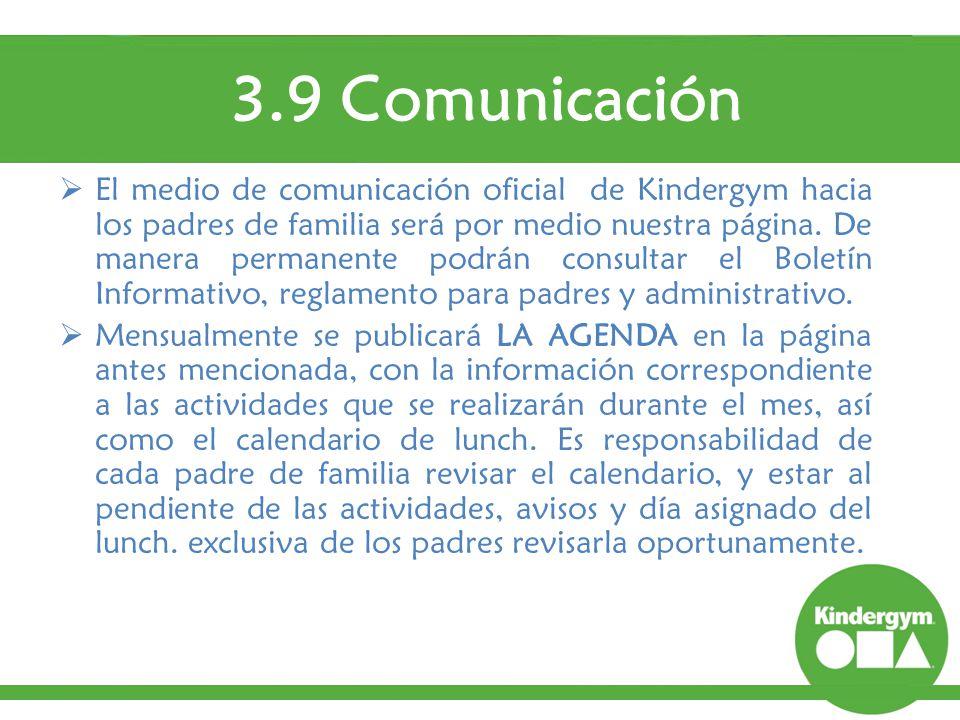3.9 Comunicación