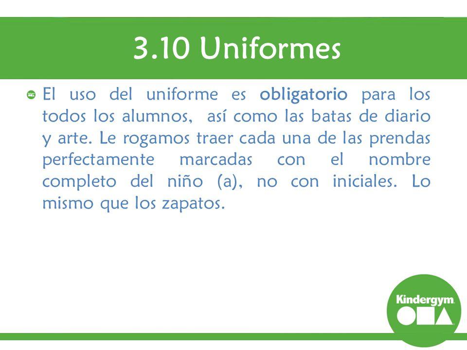 3.10 Uniformes