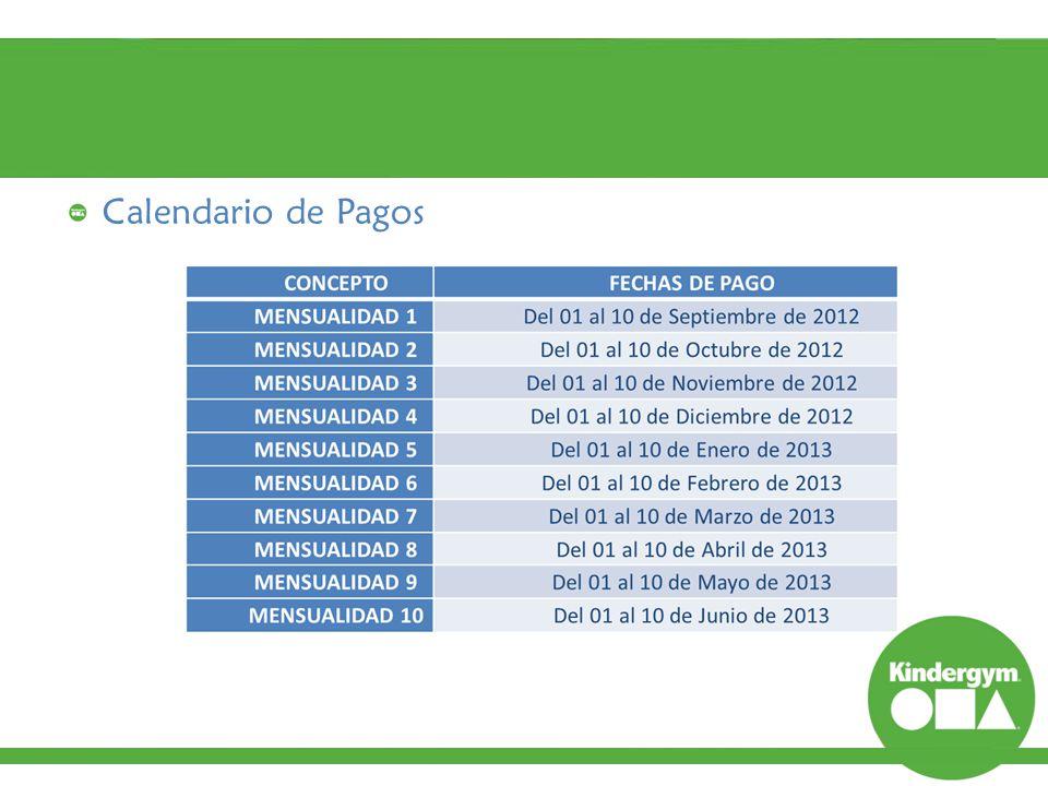 Calendario de Pagos