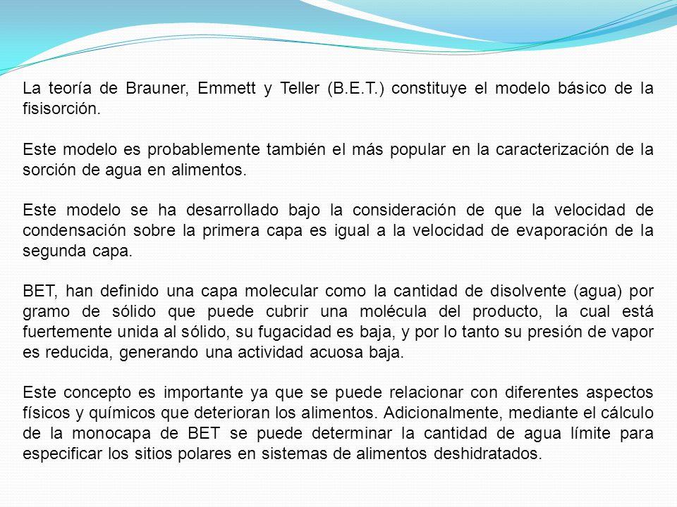 La teoría de Brauner, Emmett y Teller (B. E. T