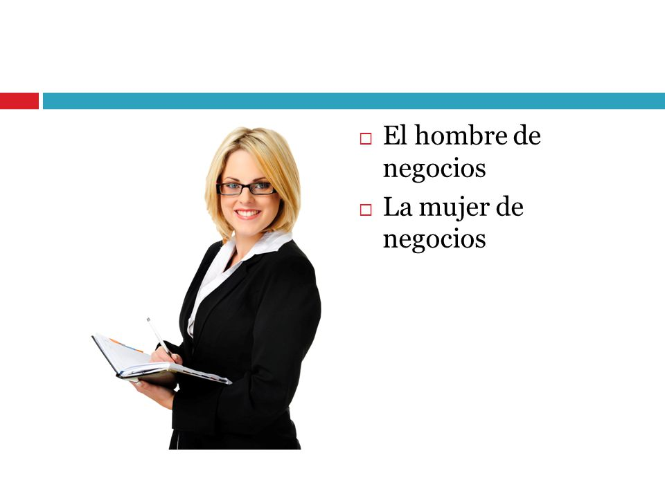El hombre de negocios La mujer de negocios