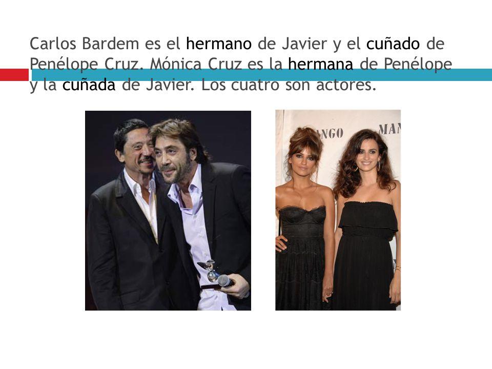Carlos Bardem es el hermano de Javier y el cuñado de Penélope Cruz