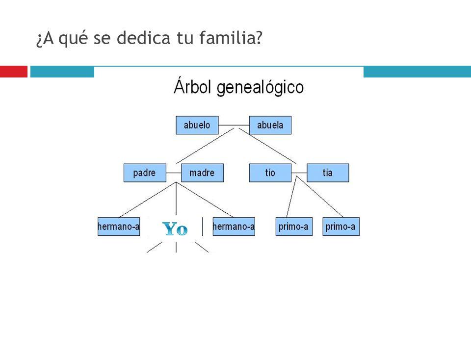 ¿A qué se dedica tu familia