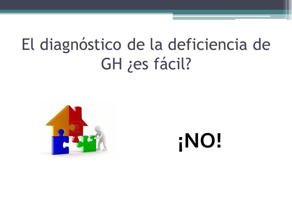 El diagnóstico de la deficiencia de GH ¿es fácil