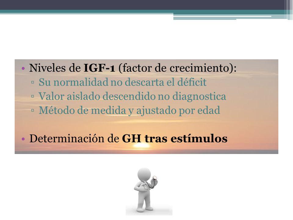 Niveles de IGF-1 (factor de crecimiento):