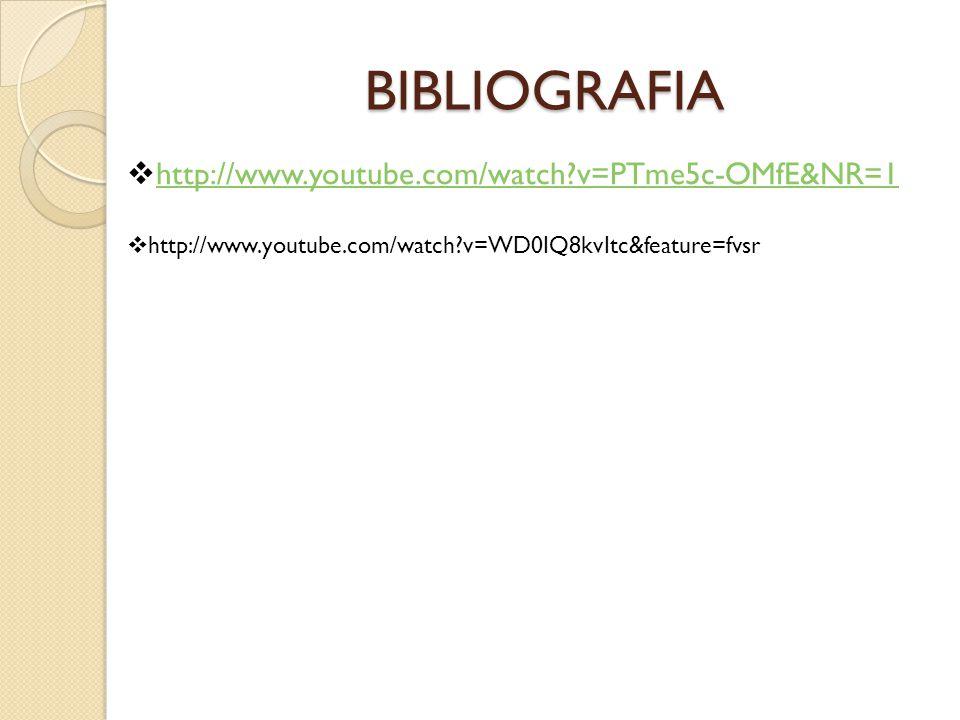 BIBLIOGRAFIA http://www.youtube.com/watch v=PTme5c-OMfE&NR=1