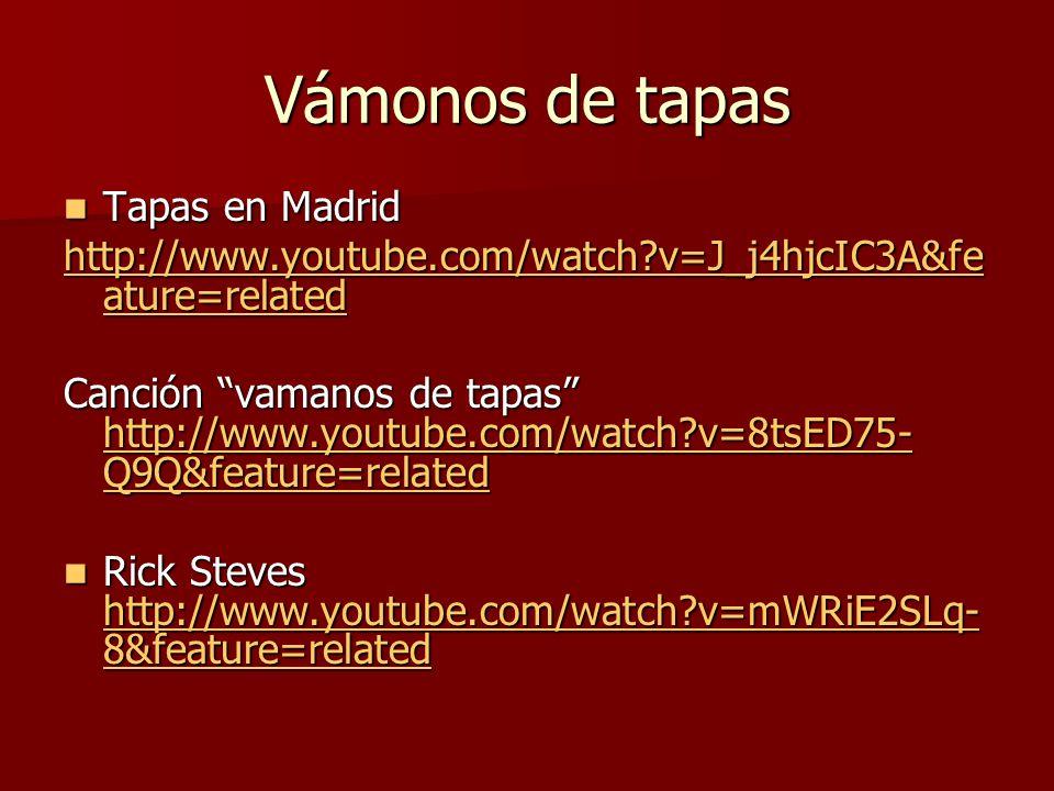Vámonos de tapas Tapas en Madrid