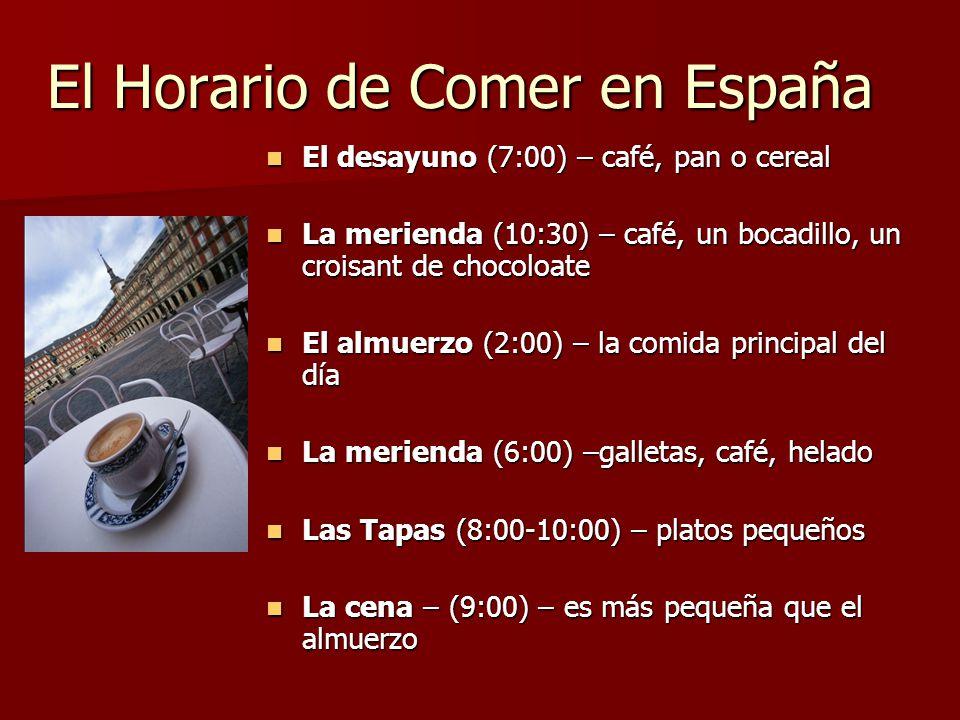 El Horario de Comer en España