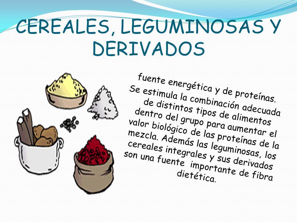 CEREALES, LEGUMINOSAS Y DERIVADOS