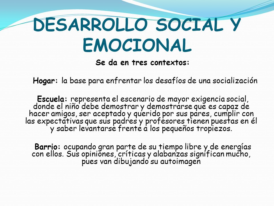 DESARROLLO SOCIAL Y EMOCIONAL