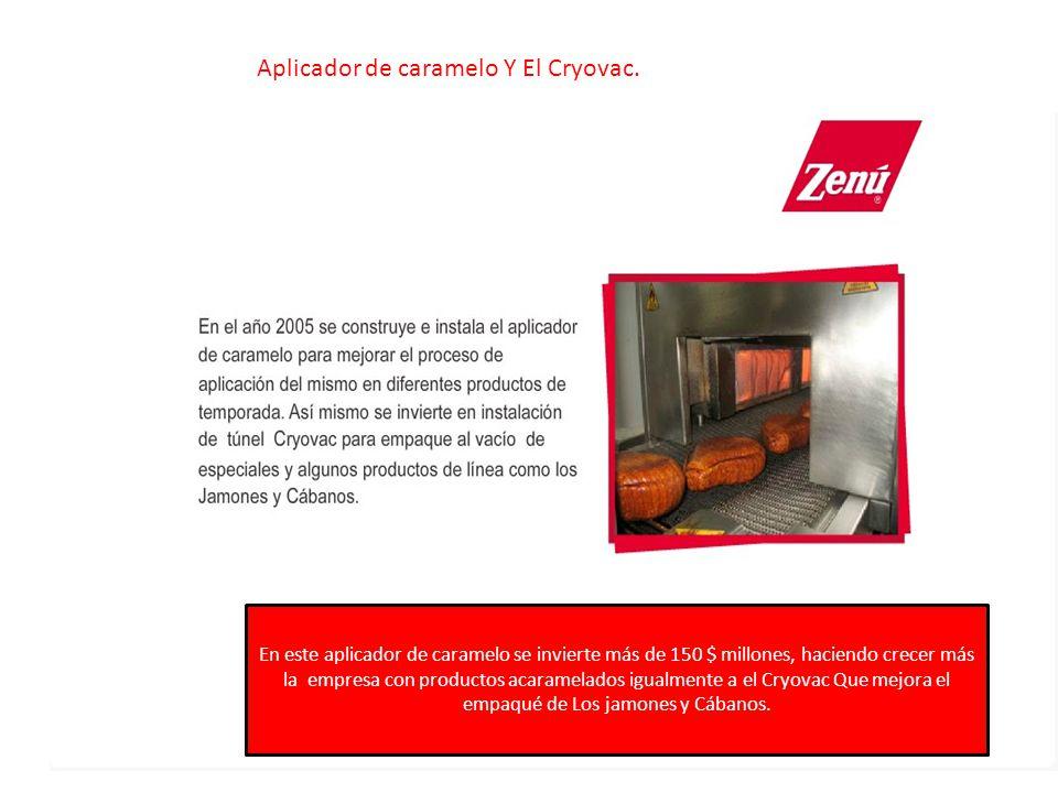 Aplicador de caramelo Y El Cryovac.