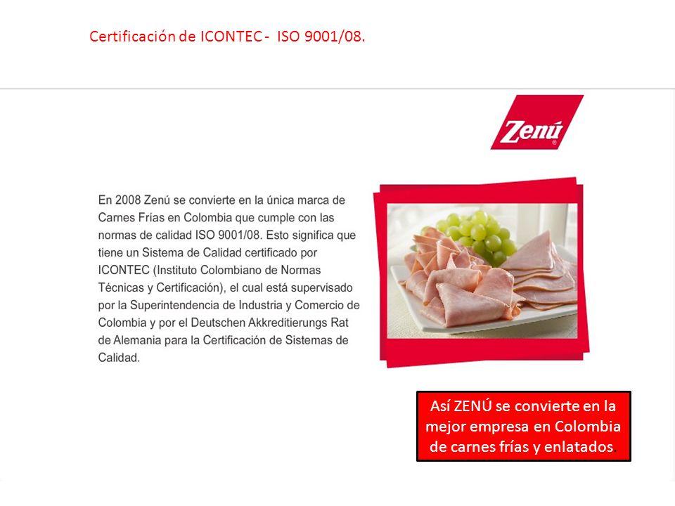 Certificación de ICONTEC - ISO 9001/08.