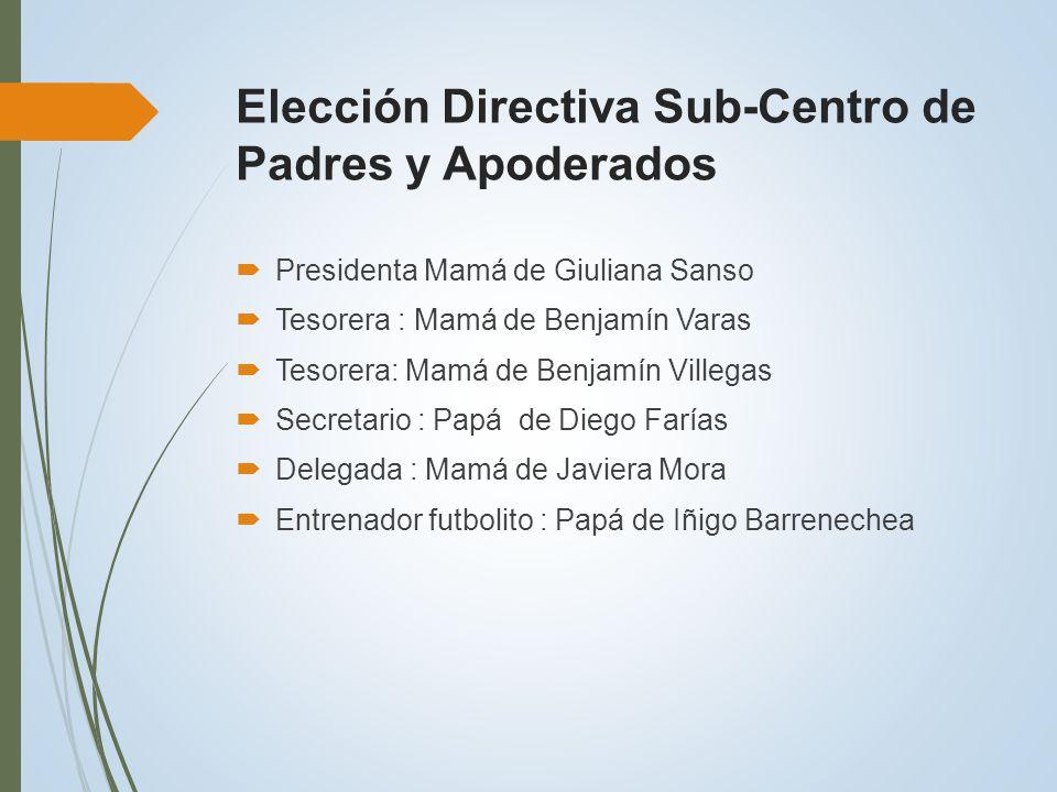 Elección Directiva Sub-Centro de Padres y Apoderados
