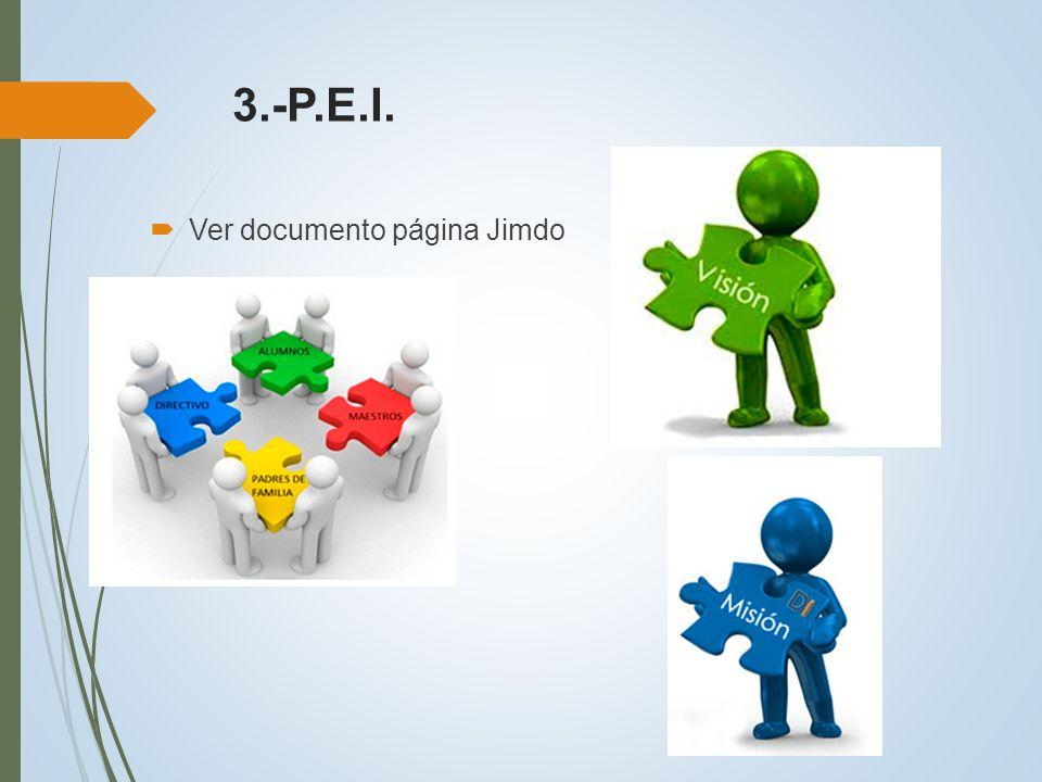 3.-P.E.I. Ver documento página Jimdo