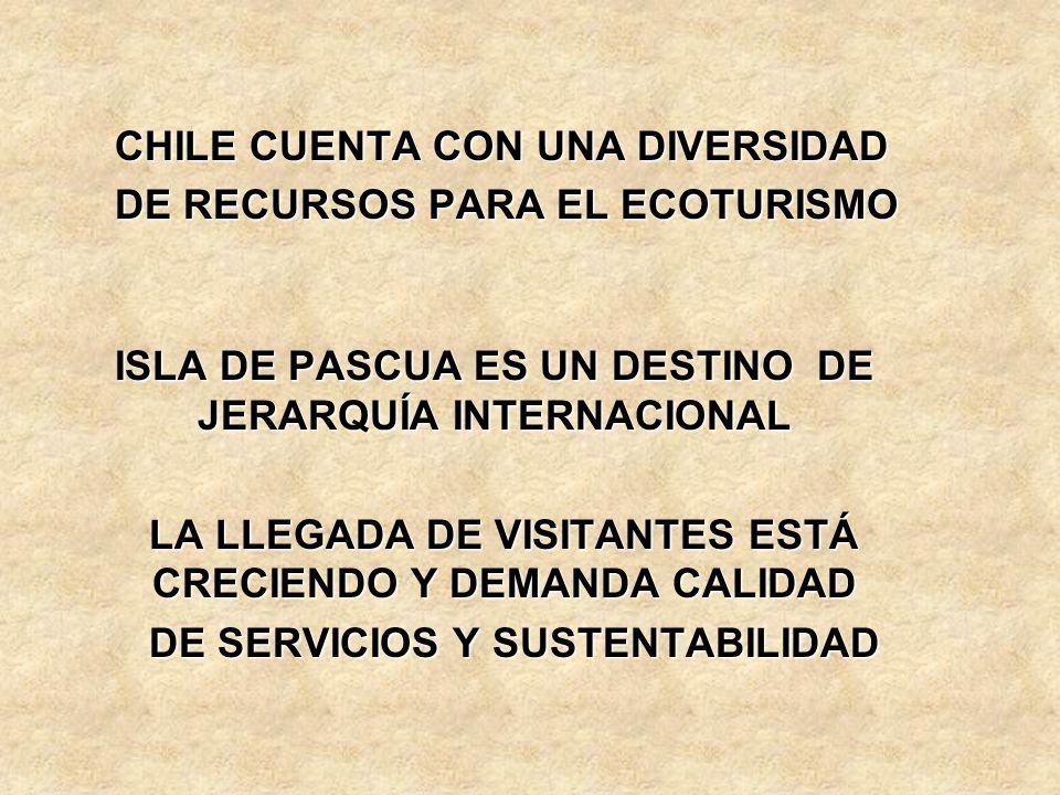 CHILE CUENTA CON UNA DIVERSIDAD DE RECURSOS PARA EL ECOTURISMO