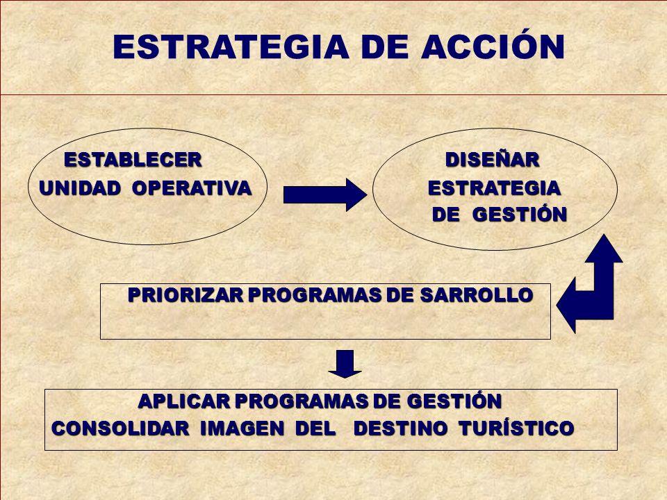 ESTRATEGIA DE ACCIÓN ESTABLECER DISEÑAR UNIDAD OPERATIVA ESTRATEGIA