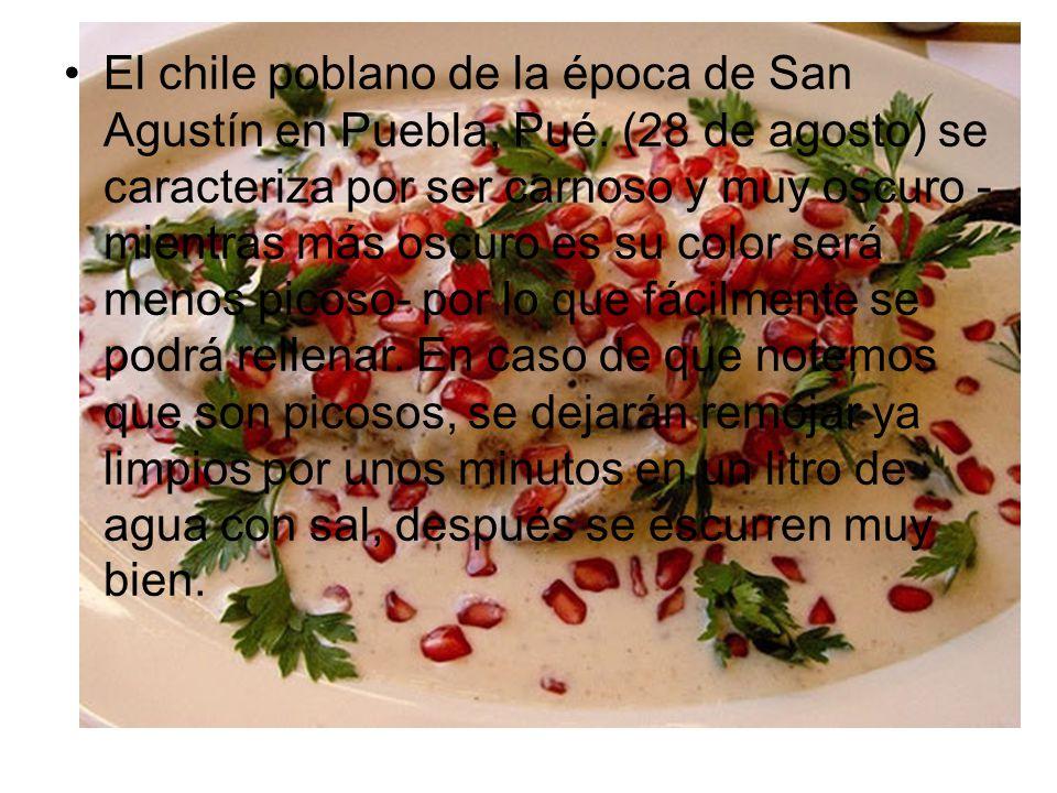 El chile poblano de la época de San Agustín en Puebla, Pué