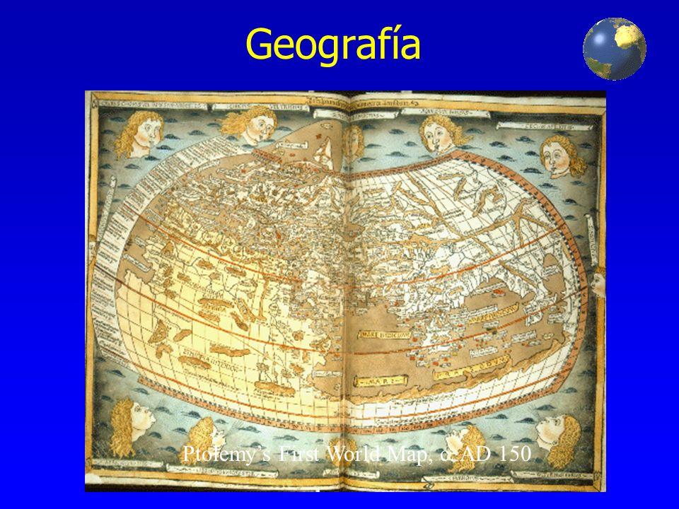 Geografía Ptolemy's First World Map, c. AD 150