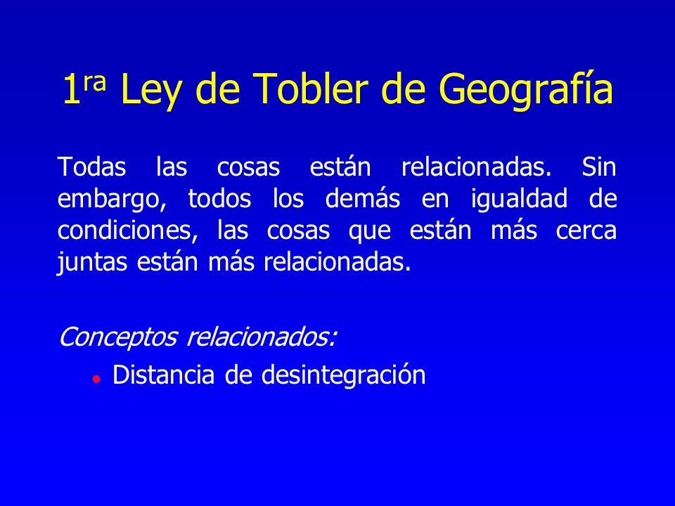 1ra Ley de Tobler de Geografía