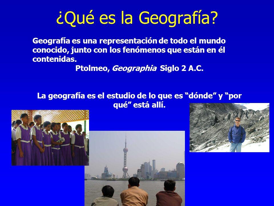 ¿Qué es la Geografía Geografía es una representación de todo el mundo conocido, junto con los fenómenos que están en él contenidas.