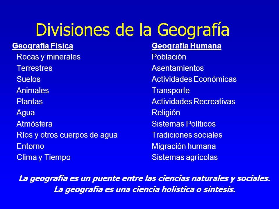 Divisiones de la Geografía