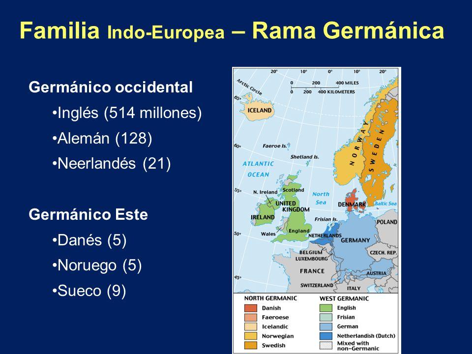 Familia Indo-Europea – Rama Germánica