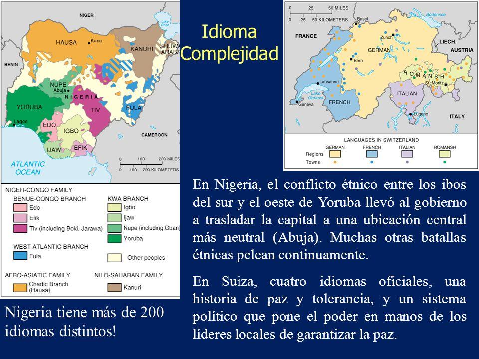 Idioma Complejidad Nigeria tiene más de 200 idiomas distintos!
