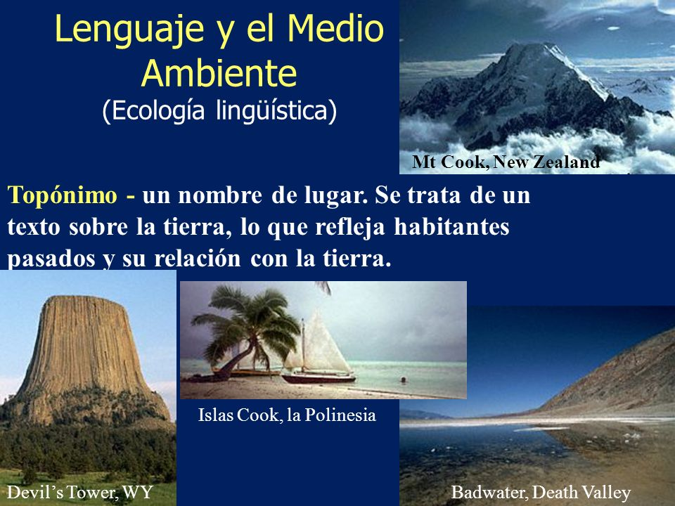 Lenguaje y el Medio Ambiente (Ecología lingüística)