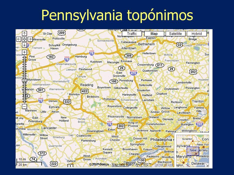 Pennsylvania topónimos
