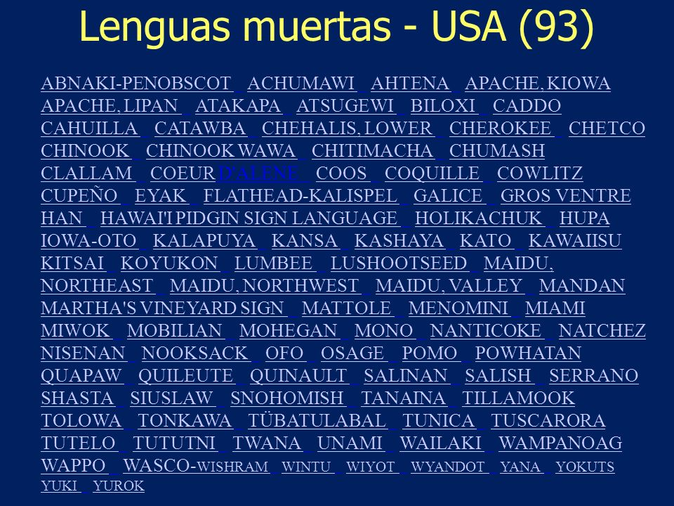 Lenguas muertas - USA (93)
