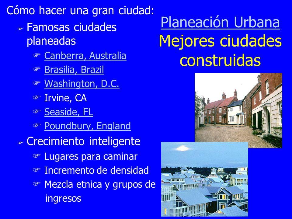 Planeación Urbana Mejores ciudades construidas