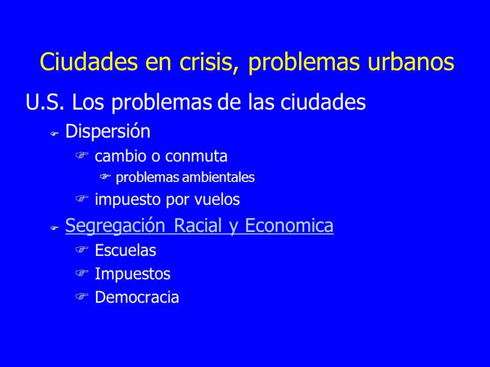 Ciudades en crisis, problemas urbanos