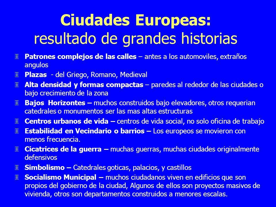 Ciudades Europeas: resultado de grandes historias