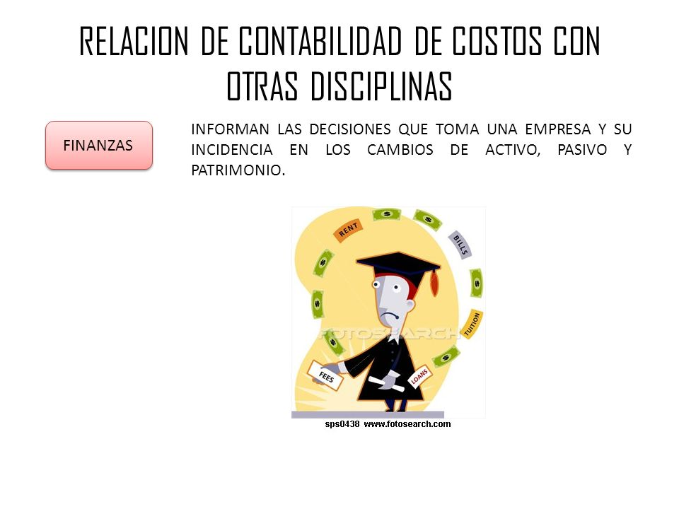 RELACION DE CONTABILIDAD DE COSTOS CON OTRAS DISCIPLINAS