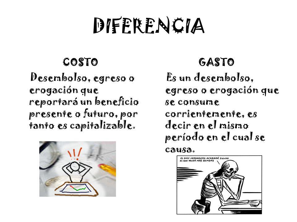 DIFERENCIA COSTO GASTO