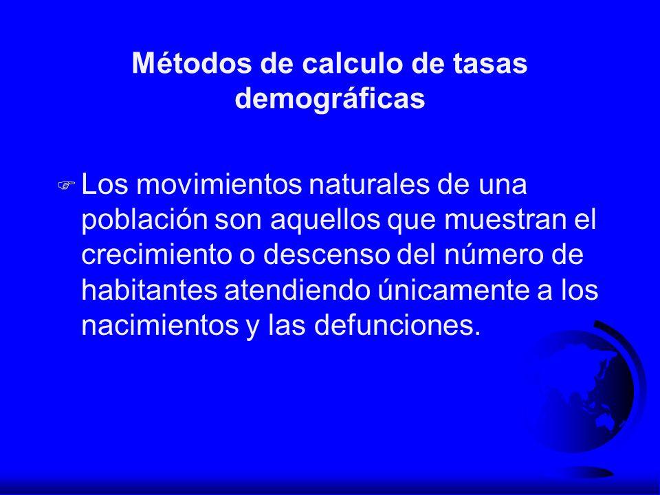 Métodos de calculo de tasas demográficas