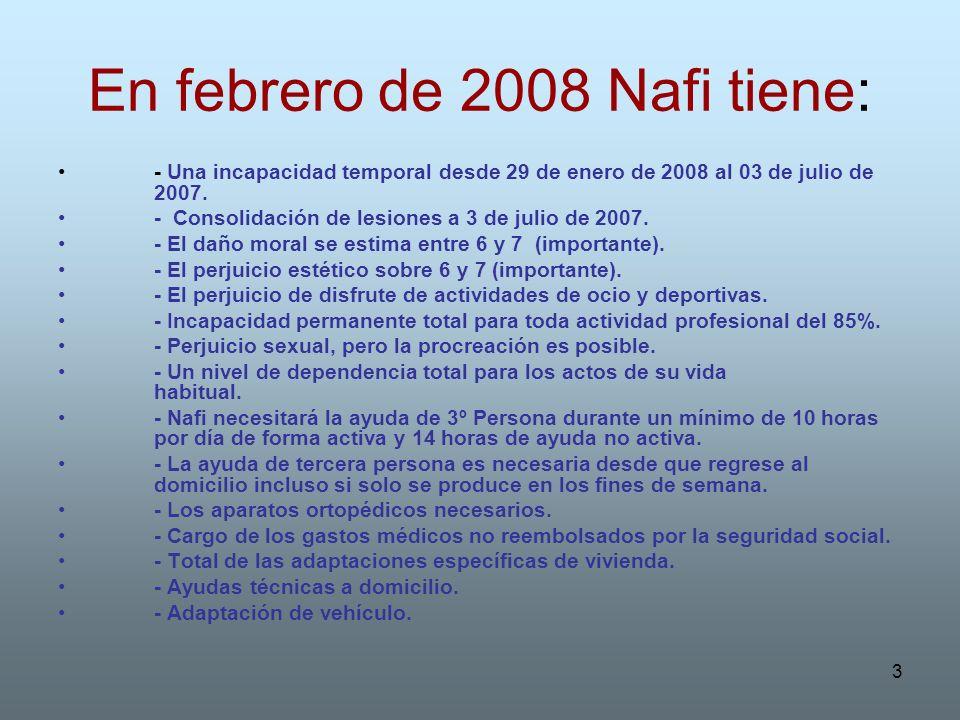 En febrero de 2008 Nafi tiene: