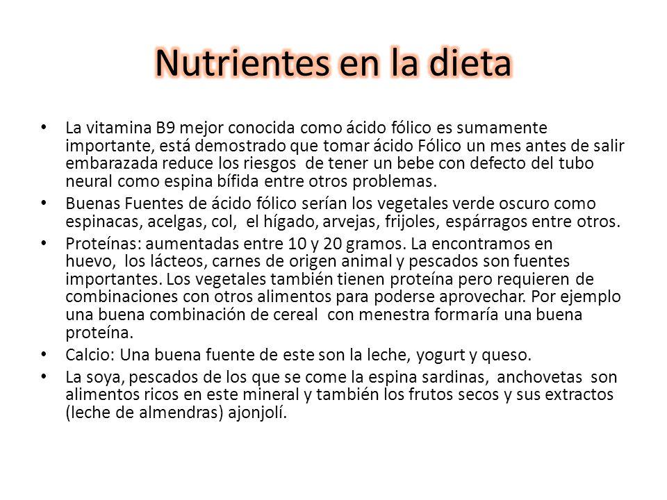 Nutrientes en la dieta
