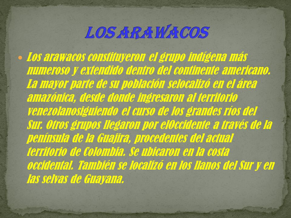 Los arawacos